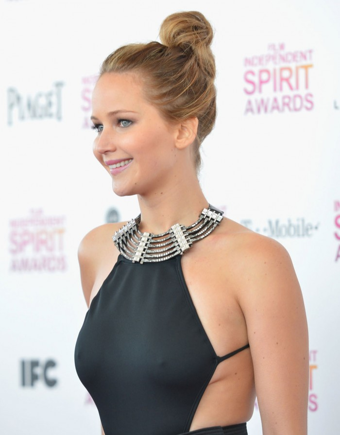 Jennifer Lawrence Nipples in Dress 700x895 Jennifer Lawrence   Nipples in Dress Sexy not exactly safe for work Jennifer Lawrence