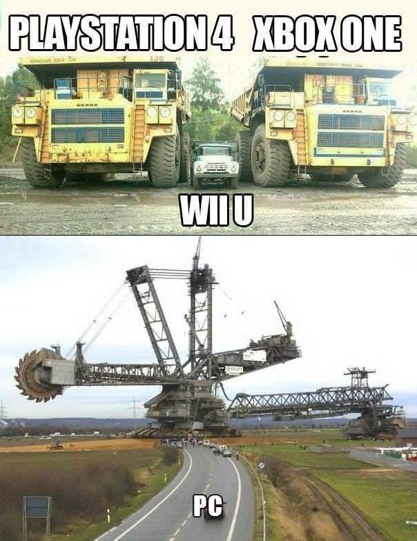 Playstation 4 vs xbox one vs wii u vs PC Playstation 4 vs xbox one vs wii u vs PC