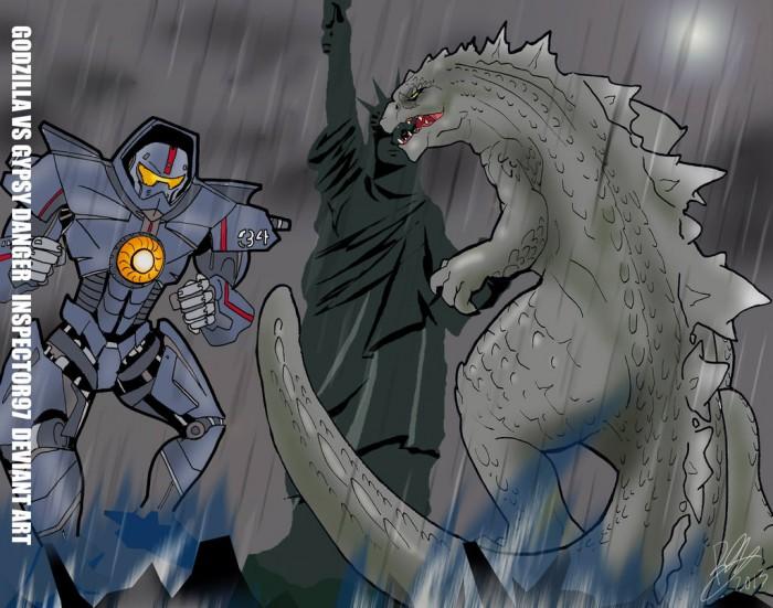 godzilla vs gypsy danger by inspector97 d6g3bv6 700x551 gypse danger vs godzilla Pacific Rim Movies Godzilla