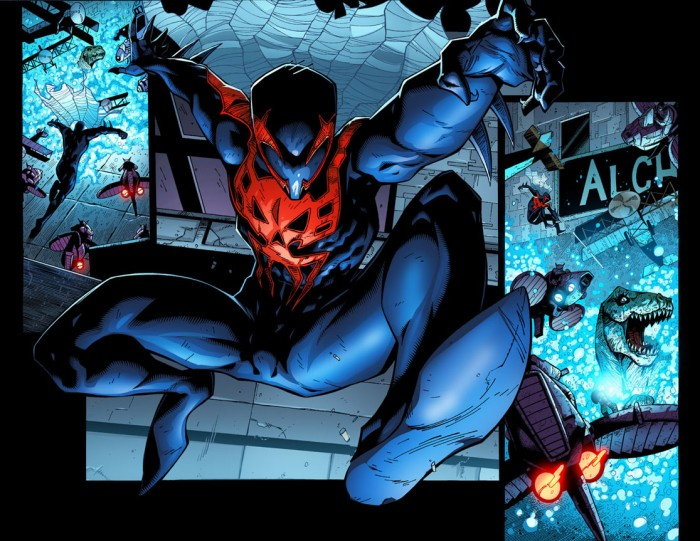 Spider-Man 2099 breaks some dinosaurs.jpg