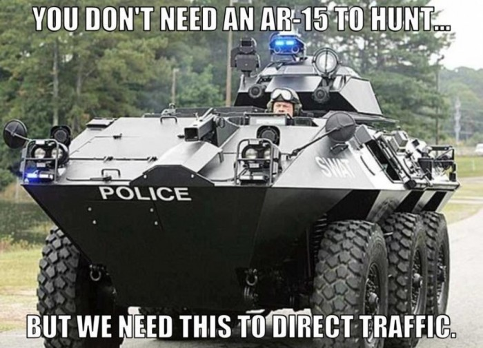 You don't need an AR-15 to hunt, but we need this to direct traffic.jpg
