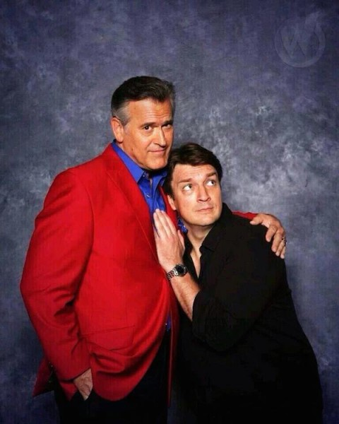 Bruce Campbell and Nathen Fillion – Birth of a Bro-Mance