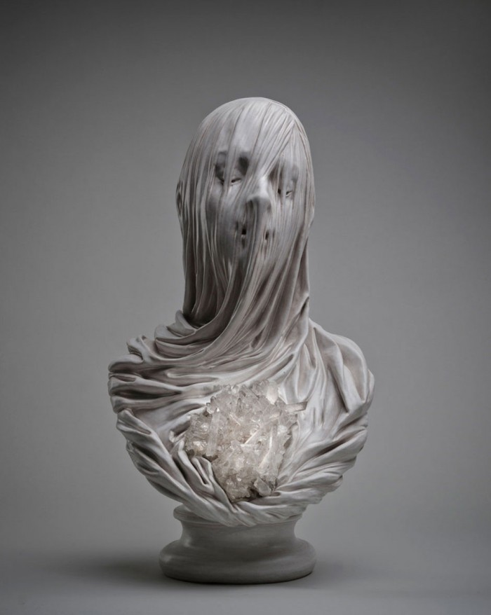 Ghostly Veiled Souls Carved Out of Solid Marble by Artist Livio Scarpella .jpg