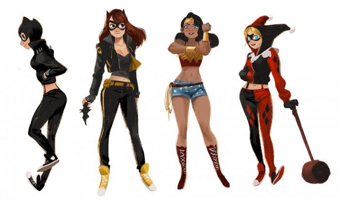 Catwoman batgirl wonder woman, harley quinn.jpg