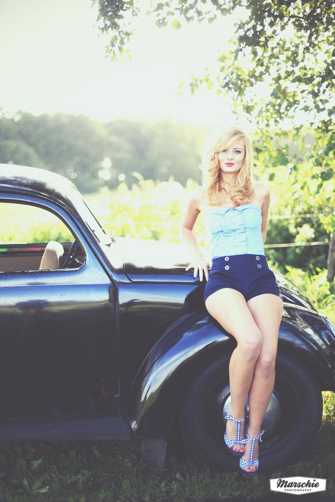 old blue car women Cars