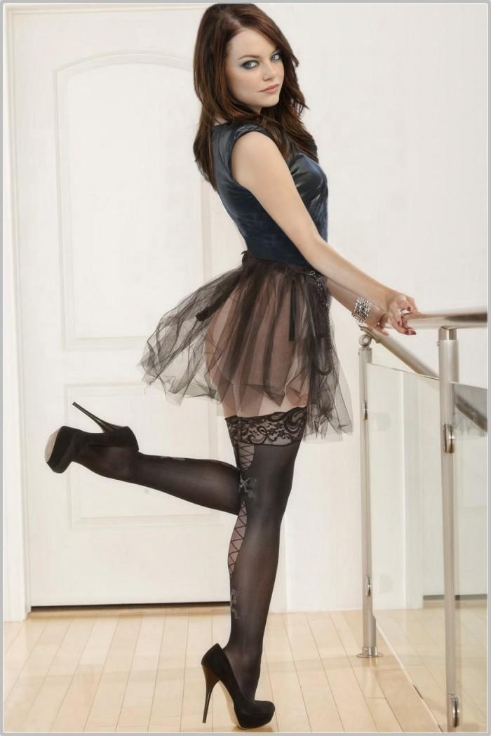 emma stone in skirt | MyConfinedSpace