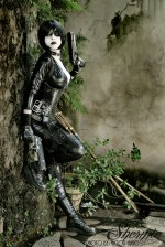 domino shermie cosplay 2 150x224 Shermie Cosplay Tomb Raider Shermie Sexy not exactly safe for work Harley Quinn Gaming domino cosplay Comic Books Black Cat