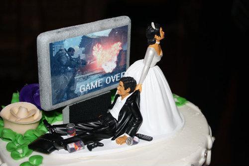 game over wedding cake Game over, man wedding game over Cake