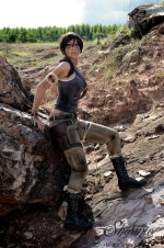 lara croft shermie cosplay 1 150x226 Shermie Cosplay Tomb Raider Shermie Sexy not exactly safe for work Harley Quinn Gaming domino cosplay Comic Books Black Cat