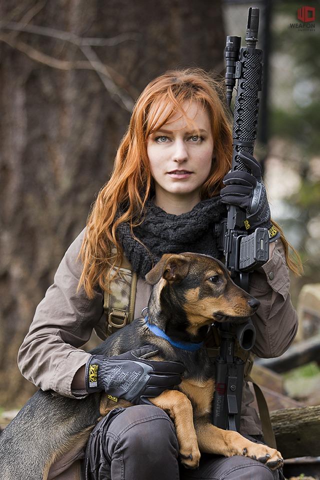 ginger and assualt dog women fahion