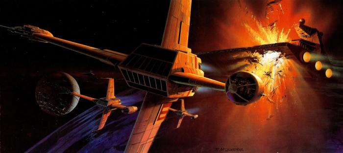 B Wing fight 700x313 B Wing fight Wallpaper star wars