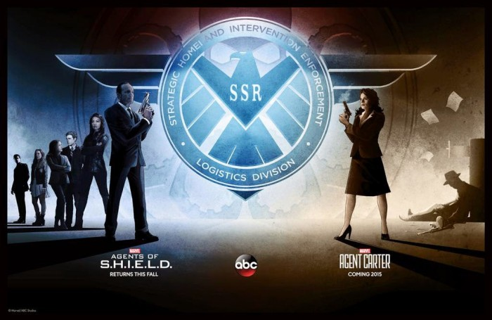 Shield and Carter 700x455 Shield and Carter Wallpaper the Avengers Television Comic Books agents of shield Agent Carter