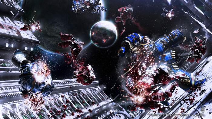 Warhammer space battle 700x393 Warhammer space battle Warhammer 40k Wallpaper Fantasy   Science Fiction