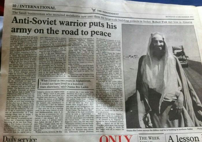 anti soviet freedom fighter 700x492 Glorious hero terrorism Osama bin Laden History hero freedom fighter enemy of my enemy bitten in the ass