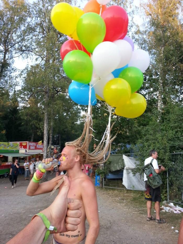 hair balloons