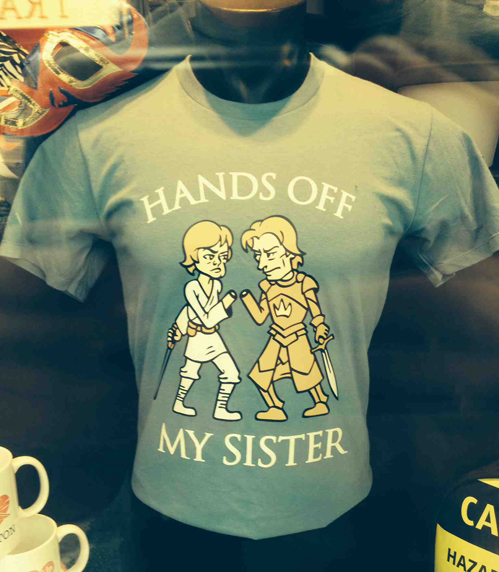 hands off my sister hands off my sister star wars Humor game of thrones