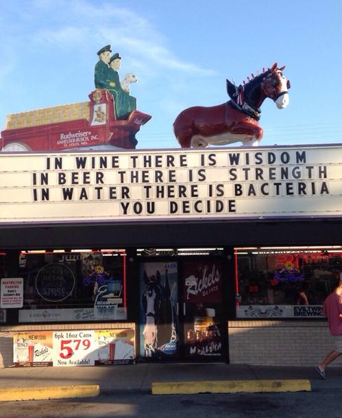 wine wisdom beer strength water... wine, wisdom, beer, strength, water... Quotes Humor Alcohol