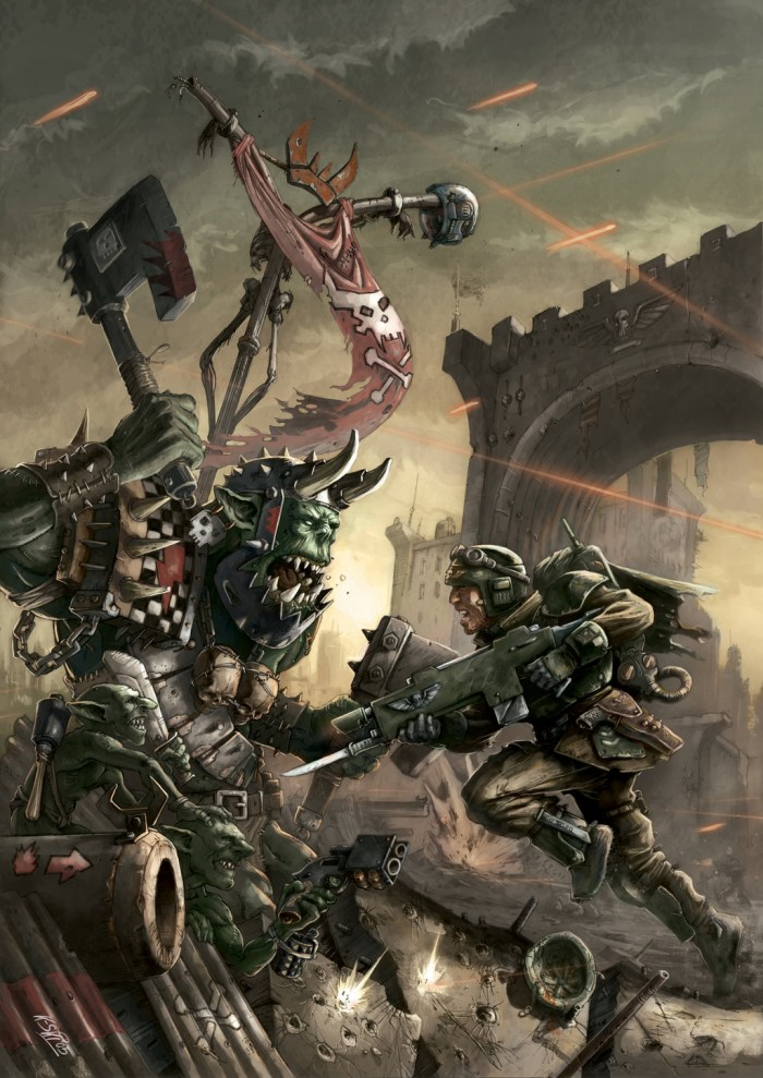 1409264563200 700x989 orck vs human Warhammer 40k