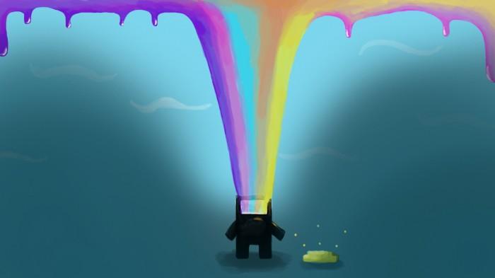 Domo Rainbow Puke 700x393 Domo Rainbow Puke wtf Wallpaper