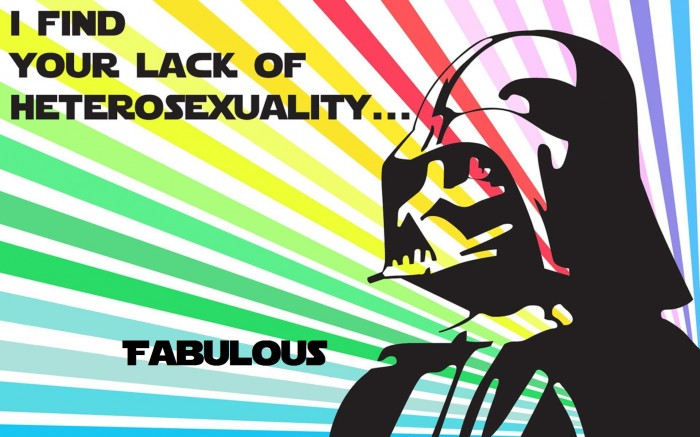 Fabulous lack of hetrosexuality 700x437 Fabulous lack of hetrosexuality Wallpaper star wars Humor gay
