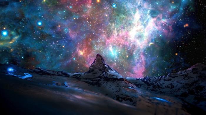 Galactic Mountain 700x393 Galactic Mountain Wallpaper Space