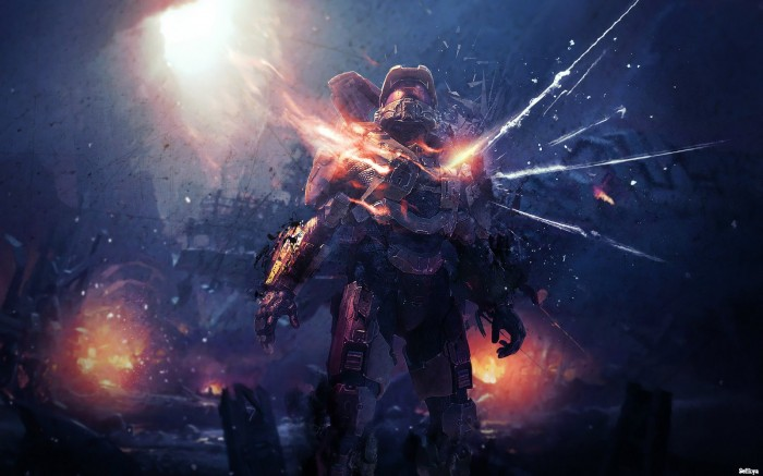 Halo 4 explosion 700x437 Halo 4 explosion Wallpaper halo Gaming