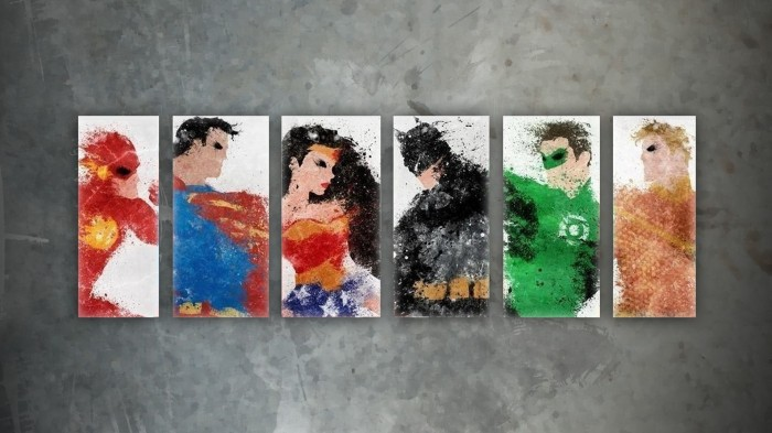 Justice League Splash 700x393 Justice League Splash wonder woman Wallpaper superman Green Lantern Flash Comic Books batman Aquaman