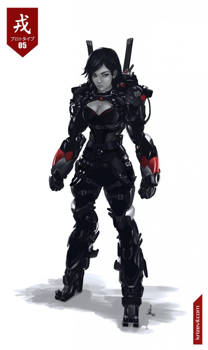 Sexy Mech Ninja Sexy Fantasy   Science Fiction