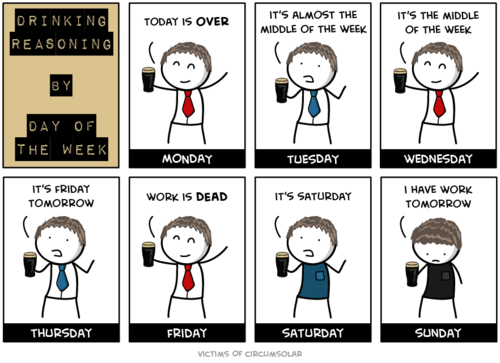 driving reasoning by the day of the week driving reasoning by the day of the week Monday Humor Alcohol