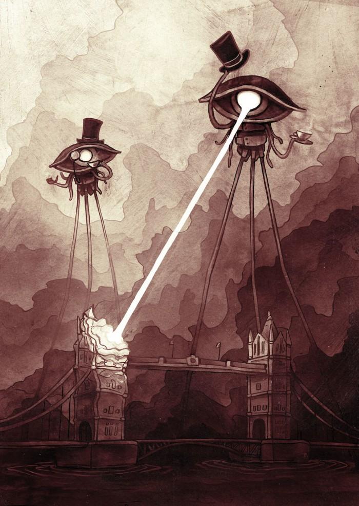 War of the Worlds   UK Gentlemen war of worlds vertical wallpaper Fantasy   Science Fiction