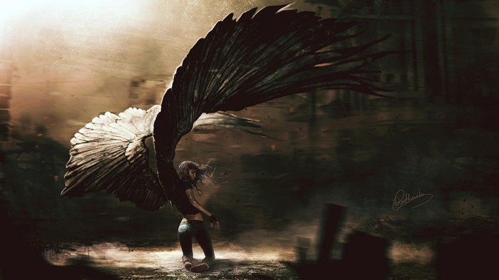 Fallen Angel 700x393 Fallen Angel Wallpaper Fantasy   Science Fiction