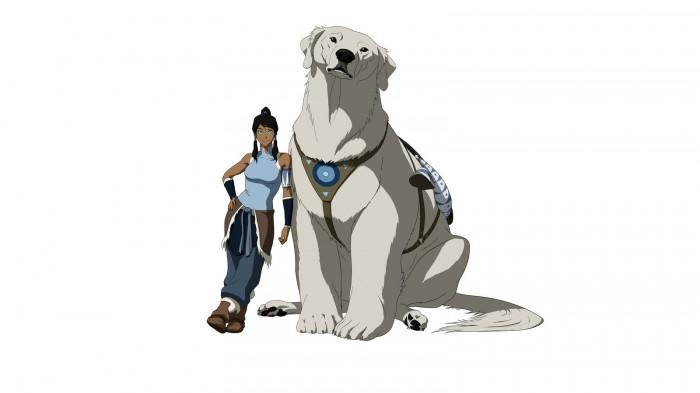 Korra and her Polar Bear Dog.jpg