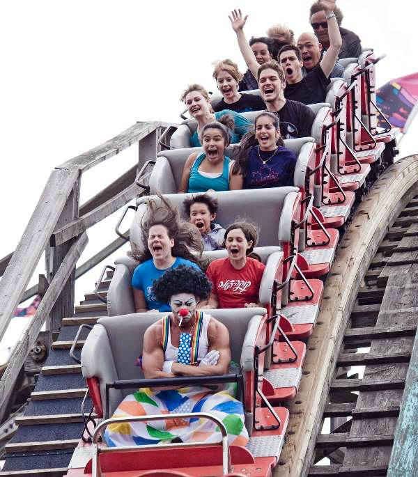 angry clown riding a coaster.jpg