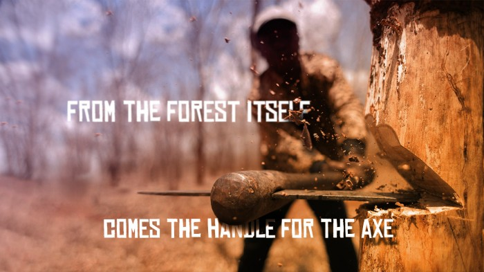 from the forest itself comes the handle for the axe.jpg