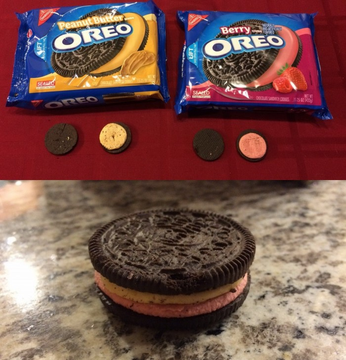 Peanut Butter and Berry Oreo