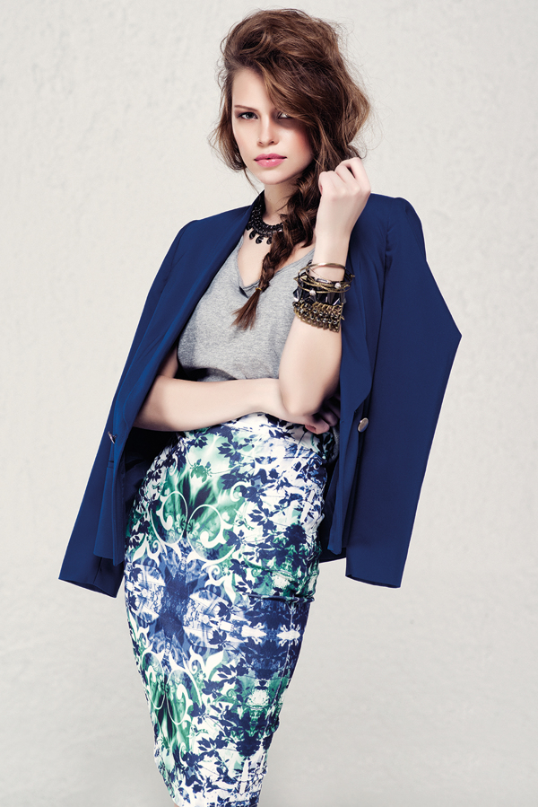 blue coat women fashion