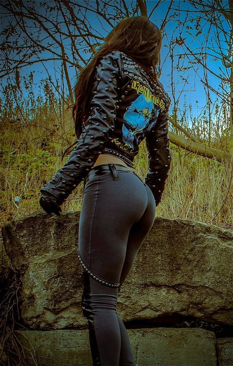 biker chick women fashion