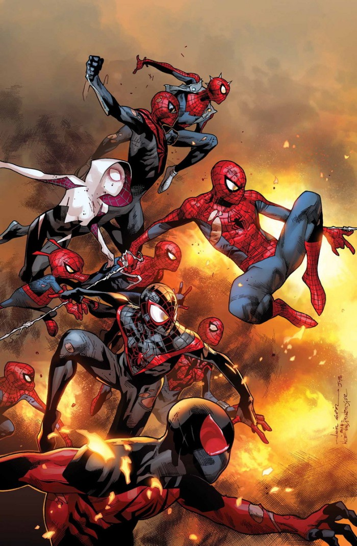 Infinity Spiders 700x1071 Infinity Spiders vertical wallpaper spider man spider gwen Comic Books
