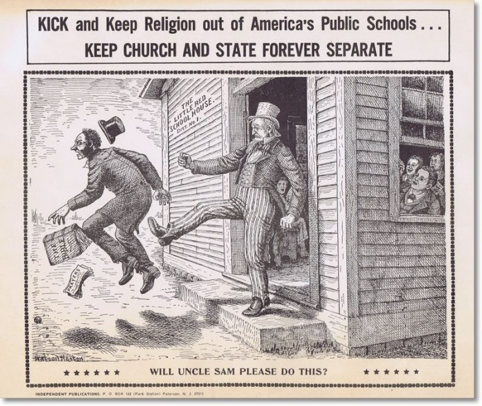 Kick and Keep Religion OUT 700x590 Kick and Keep Religion OUT Politics Humor