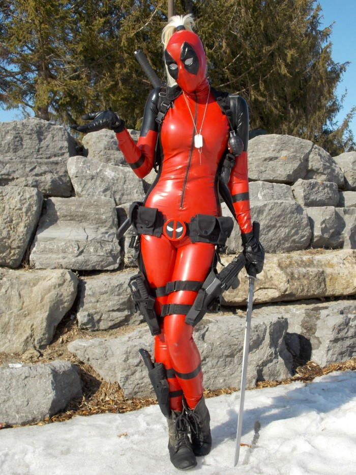 Lady Deadpool by Betty Nukem 700x933 Lady Deadpool by Betty Nukem vertical wallpaper Sexy deadpool cosplay Comic Books