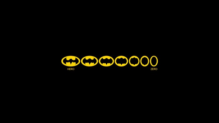 Minimal Batman 700x394 Minimal Batman Wallpaper Humor Comic Books batman