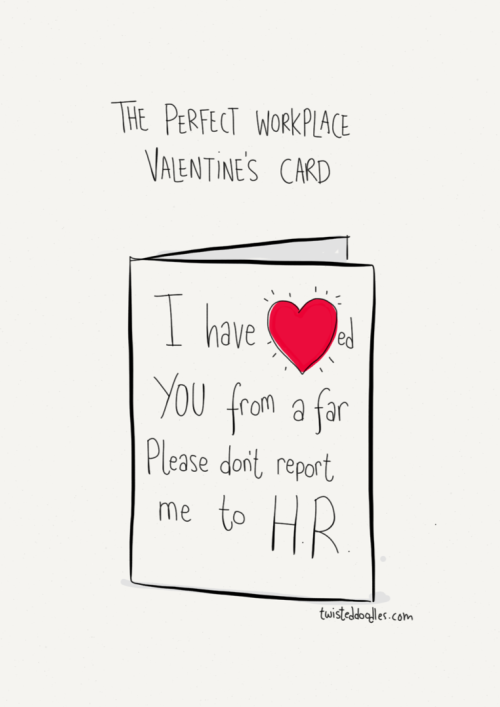 Perfect workplace Valentine's Day Card