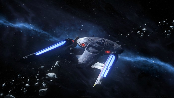 Enterprise E in astroid field 700x394 Enterprise E in astroid field