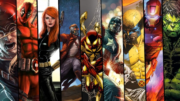 Marvel Heros 700x394 Marvel Heros wolverine Wallpaper thor starlord spider man Iron Man hulk deadpool Comic Books Captain America black widow
