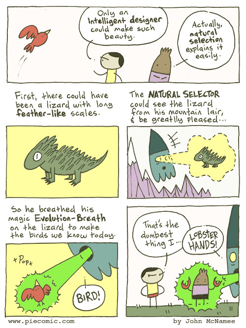 Natural Selection Natural Selection Science! Religion piecomic Humor