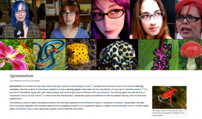 QSHxXzM 700x414 Aposematism women Science!