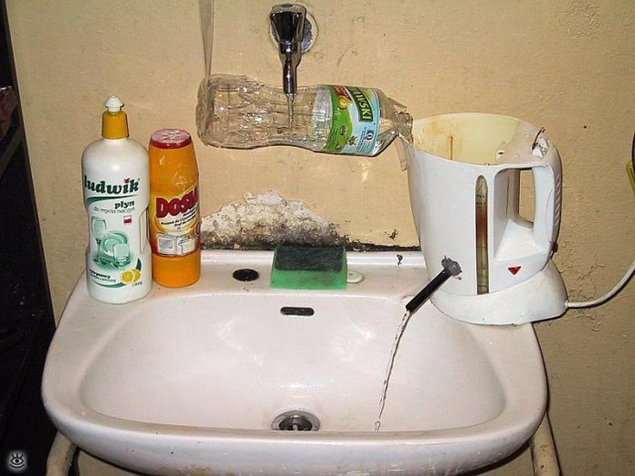 third world hot water