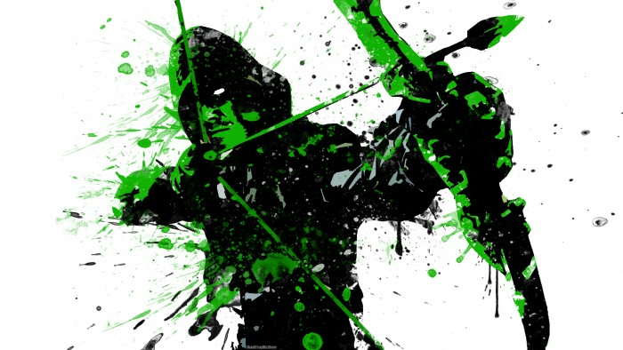 Splatter Arrow in Green 700x394 Splatter Arrow in Green