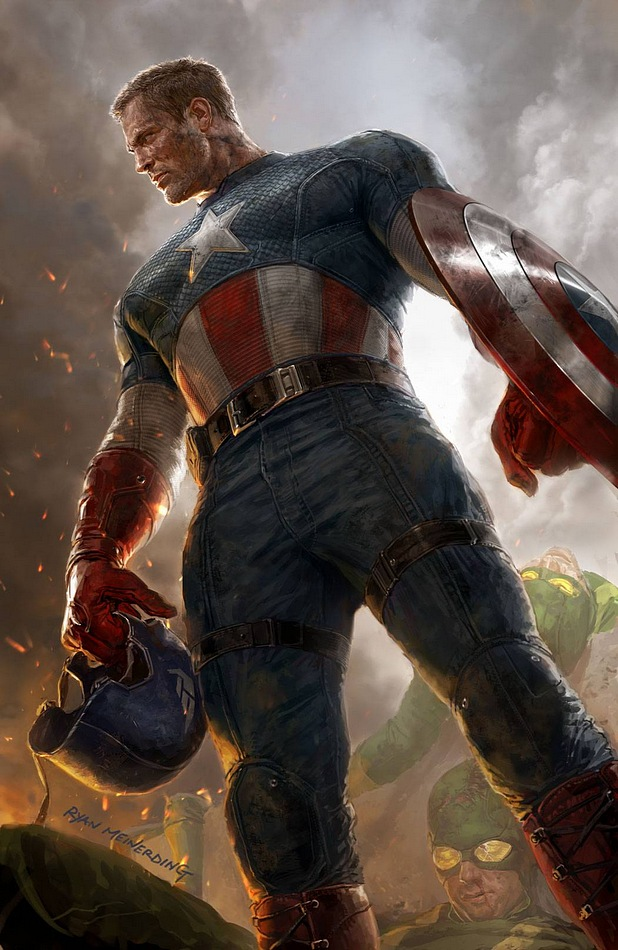 Captain America took off his helmet Captain America took off his helmet