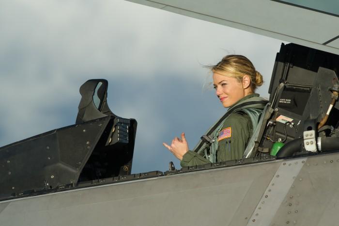 Emma Stone in a jet.jpg